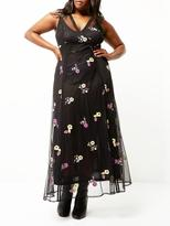 RI Plus Embroidered Maxi Dress