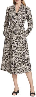 Lafayette 148 New York Zelida Printed Linen Coat