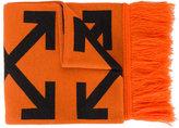 Off-White diagonal arrow scarf - men - Acrylic - One Size