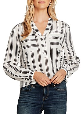 Vince Camuto Desert Path Block-Stripe Tunic