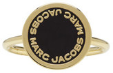 Marc Jacobs Gold Enamel Logo Disc Ring