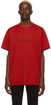 Givenchy Red Paris T-Shirt