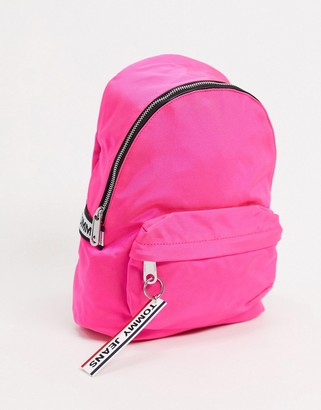 Tommy Hilfiger Tommy Jeans backpack with logo tape in pink