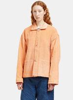 Story Mfg. Women's Short on Time Corduroy Jacket in Orange