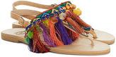 Elina Linardaki Multi Leather Dizzy Parrot Sandals
