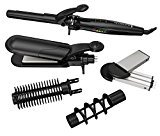 Remington S8670NA Multi-Styler with 5 Interchangeable Styling Attachments, Curl, Crimp, Straighten, Professional Style