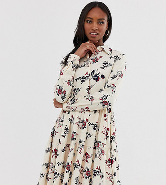 Y.A.S Tall floral high neck dress