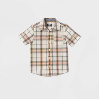 Osh Kosh Toddler Boys' Short Sleeve Plaid Woven Button-Down Shirt -