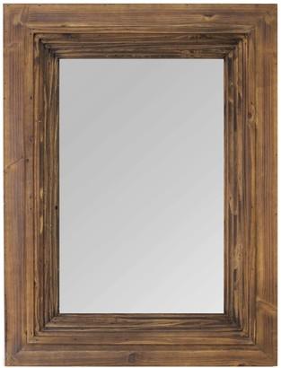"Stratton Home 31.50"" Julia Layered Wood Detail Mirror"