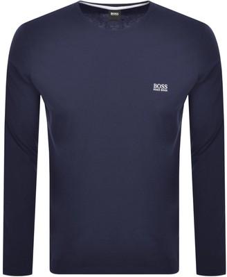 BOSS Lounge Long Sleeve Crew Neck T Shirt Navy