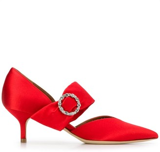 Malone Souliers Maite crystal-buckle mules
