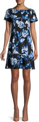 Karl Lagerfeld Paris Floral-Print Mini Dress
