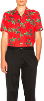 Scotch & Soda Short Sleeve Hawaii Shirt in Red. - size L (also in XL)