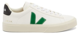 Veja Campo Leather Trainers - Green White
