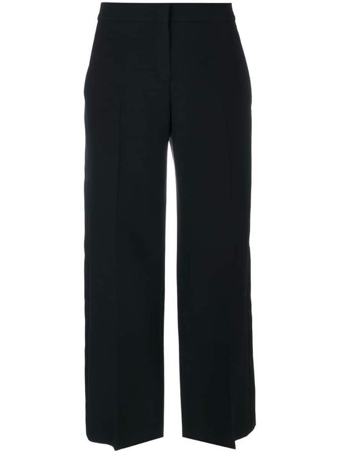 Alexander McQueen cropped wide leg trousers