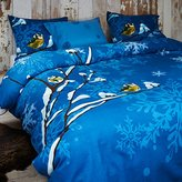 Famous Home Fashions Flannel Bird Duvet Coverset, Full/Queen