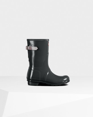 Hunter Women's Original Short Back Adjustable Gloss Wellington Boots
