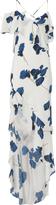 Michelle Mason Floral Asymmetrical Ruffle Gown Ã'Â