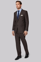 Ermenegildo Zegna Cloth Regular Fit Brown Sharkskin Jacket
