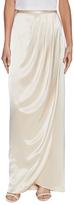 St. John Liquid Satin Faux Wrap Skirt