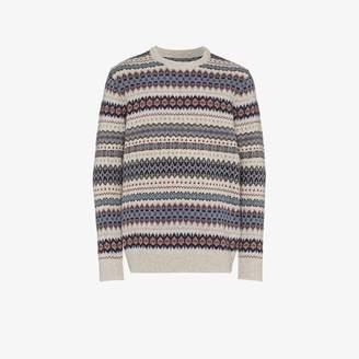 Barbour Fairisle intarsia knit sweater