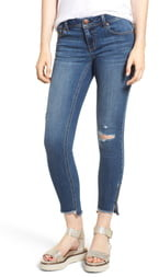 1822 Denim Ripped Step Hem Jeggings