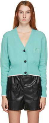 MSGM Green Wool and Cashmere Cardigan