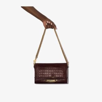 Alexander McQueen Story croc-effect leather shoulder bag