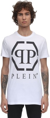 Philipp Plein REFLECTIVE PRINT COTTON JERSEY T-SHIRT