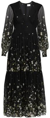 Erdem Tabetha Daffodil Ditsy Print Silk Maxi Dress