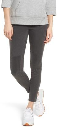 Zeza B Metallic Knee Patch Denim Skimmer Leggings