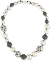 Alexis Bittar Pearly Crystal Mosaic Strand Necklace