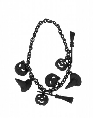 Moschino Charms Necklace Woman Black Size U It - (one Size Us)