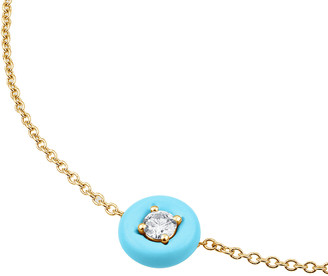 Vittorio B. Fine Jewels Belle Ciambelle 14K Gold Turquoise and Diamond Necklace
