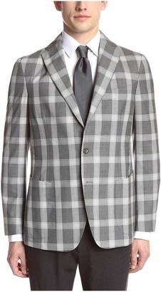 Gi Capri Men's Check Plaid Jacket Grey 50R IT/40R US