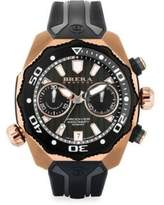 Pro Diver Rose Goldtone Stainless Steel & Rubber Strap Watch