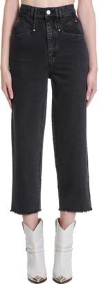 Isabel Marant Naliska Jeans In Black Denim