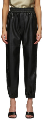 Nanushka Black Vegan Leather Planet Lounge Pants