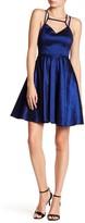 Minuet Solid Fit & Flare Strap Dress