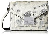 Loeffler Randall Women's Mini Crossbody and Fanny Pack, Cream/Silver