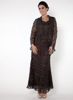 Soulmates D7068 Crochet Lace Straps Three Pieces Gown