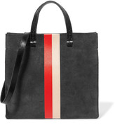 Clare Vivier Simple Mini Printed Suede Shoulder Bag - Gray