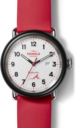 Shinola Detrola The Radio Flyer(R) Silicone Strap Watch, 43mm