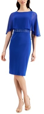 Jessica Howard Overlay Sheath Dress