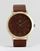 Asos Watch in Wood Effect