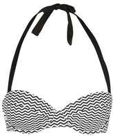 Topshop Zig-zag print bikini top