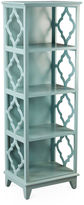 AA Importing Barton 57 Trellis Bookcase, Light Blue
