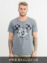 Junk Food Clothing Ckecker Mickey Tee-steel-xl