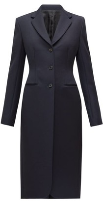The Row Panois Slim-fit Single-breasted Coat - Navy
