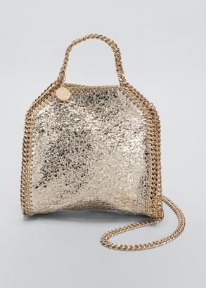 Stella McCartney Falabella Tiny Metallic Crackle Shoulder Tote Bag